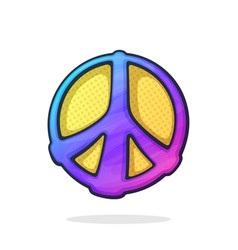 hippies colorful symbol peace vector image