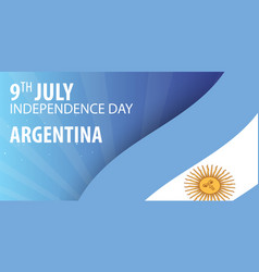 independence day of argentina flag and patriotic vector image