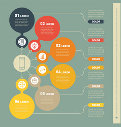 Infographic template of technology or education vector