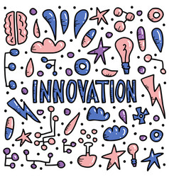 innovation concept in doodle style design vector image