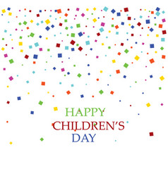 international children s day colorful background vector image