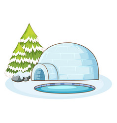 Isolated picture igloo vector
