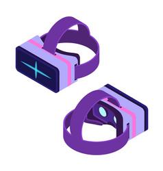 isometric virtual reality glasses vector image