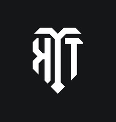 Kt logo monogram design template vector