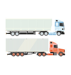 Lorry truck isolated icons logistics vector