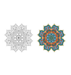 Mandalas for coloring books outlined and colore vector
