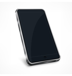 Mobile phone on white vector image