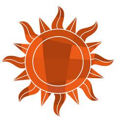mosaic sun symbol vector image