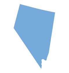 nevada state map vector image