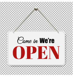 open sign with transparent background vector image