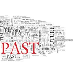 Past word cloud concept vector