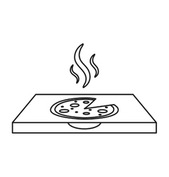 pizza delivery box outline vector image