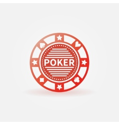 Poker chip red icon vector image