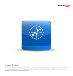 project connection icon - 3d blue button vector image