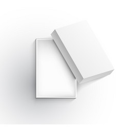 realistic open blank gift box top view vector image