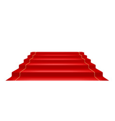 red carpet and golden barrier vector image
