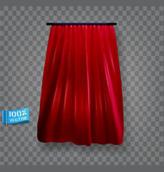 red curtain isolated realistic element vector image