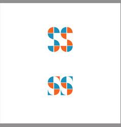S letter logo design on black color background vector