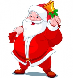 Santa with bell vector image