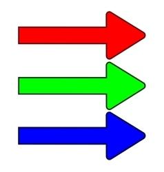 Set color arrows 1707 vector