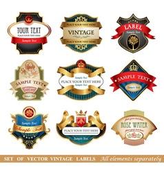 set labels vector image