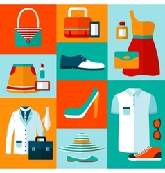 Shopping fashion design elements vector