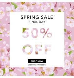Spring sale banner sale background big sale vector