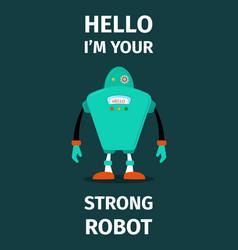 Strong robot poster vector