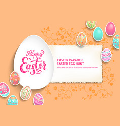 template card eggs vector image