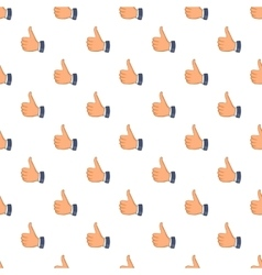 Thumbs up pattern cartoon style vector image