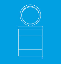 Trash can icon outline style vector