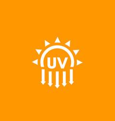 Uv radiation ultraviolet light vector
