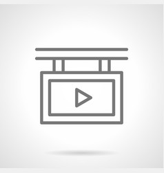 Video advert screen simple line icon vector
