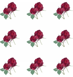 Watercolor Red Rose pattern vector