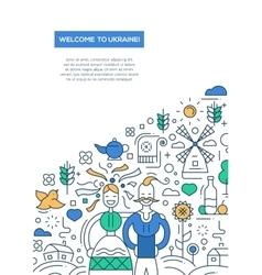 Welcome to Ukaine- line design brochure poster vector