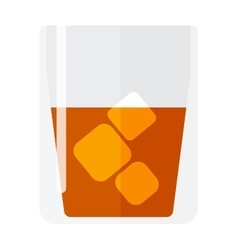 Whisky and ice cup vector image