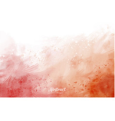 white and red watercolor background vector image