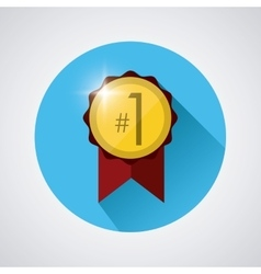 Winner icon design vector