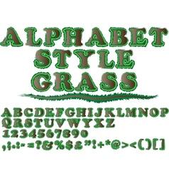 ALPHABET STYLE GRASS 2 vector image