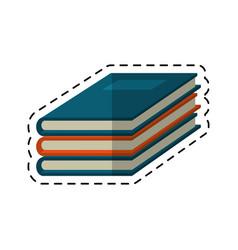 cartoon notebook study educational icon vector image vector image