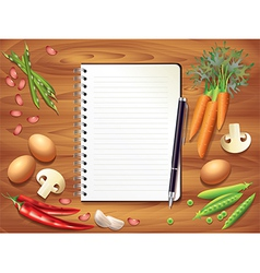 kitchen recipe background vector image vector image