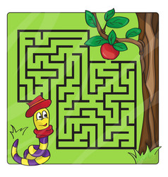 labyrinth maze for kids entry and exit - help vector image vector image