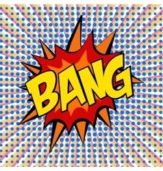 retro cartoon explosion pop art comic set vector image