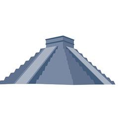 Chichen itza grey vector image