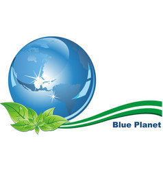 ecological character - the blue planet in his vector image