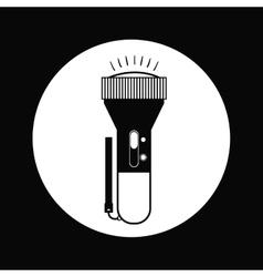 flash light icon design vector image vector image
