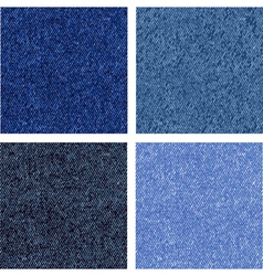 Four different of the jeans texture vector