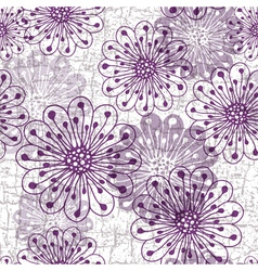 grunge floral pattern vector image vector image
