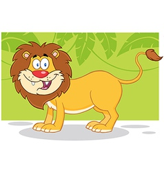 Lion jungle cartoon vector image vector image
