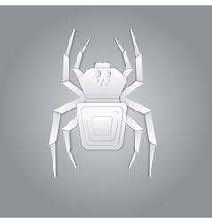 Spider paper design vector image vector image